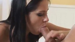 Leony april blowjobs lover until he cums into her mouth