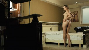 Anka Minetchica Caresses his young body and standing nipples Solo