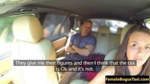 Slutty taxi babe Iwona fucks with lucky passenger