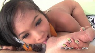 Thip Cute Japanese Sucks Dick And Eggs Full White Man
